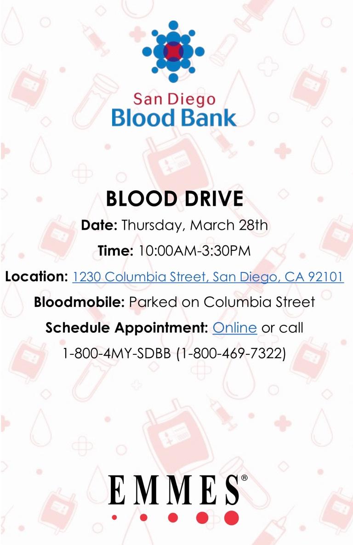 1CP & 2CP Blood Drive 11 x 17